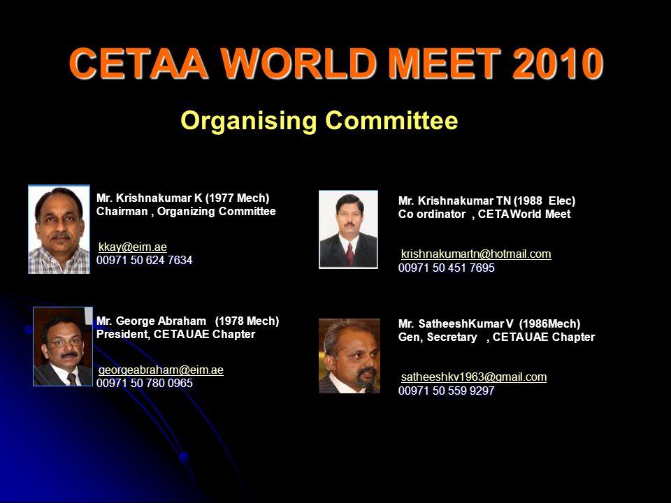 CETAA WORLD MEET 2010 Organising Committee