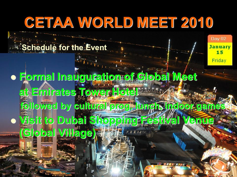 CETAA WORLD MEET 2010 Formal Inauguration of Global Meet