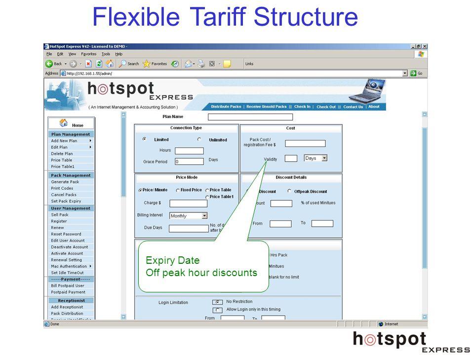 Flexible Tariff Structure