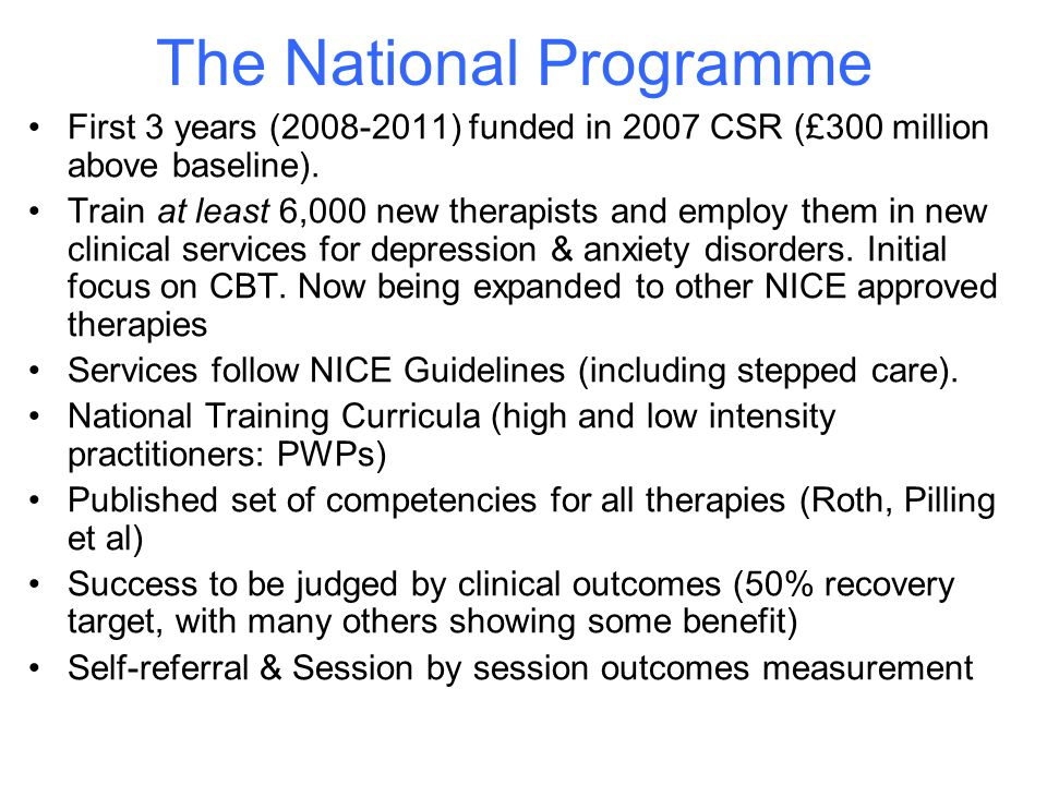 The National Programme