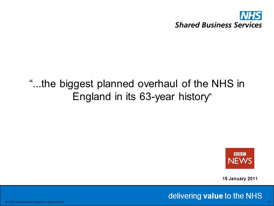 ...the biggest planned overhaul of the NHS in England in its 63-year history