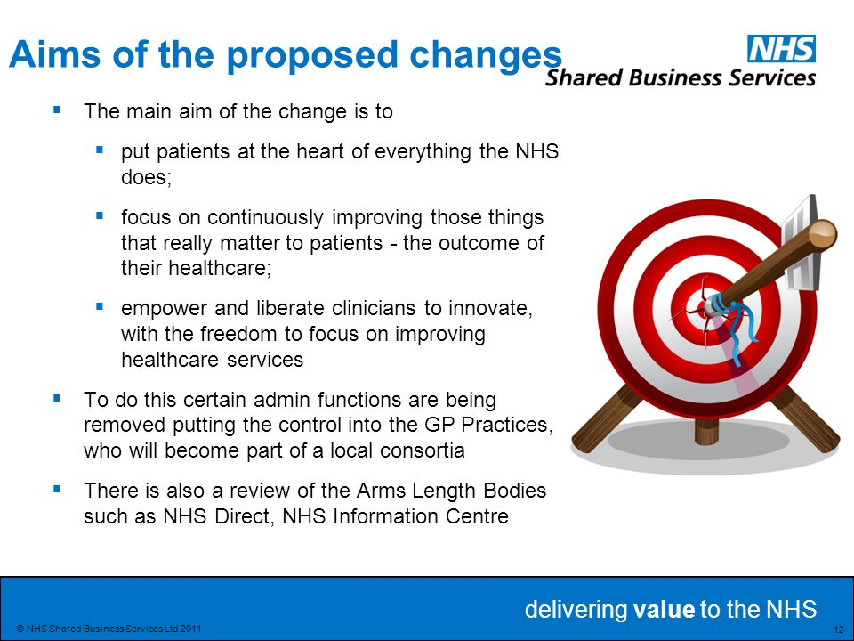 Aims of the proposed changes