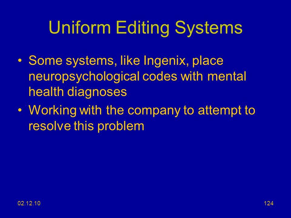 Uniform Editing Systems