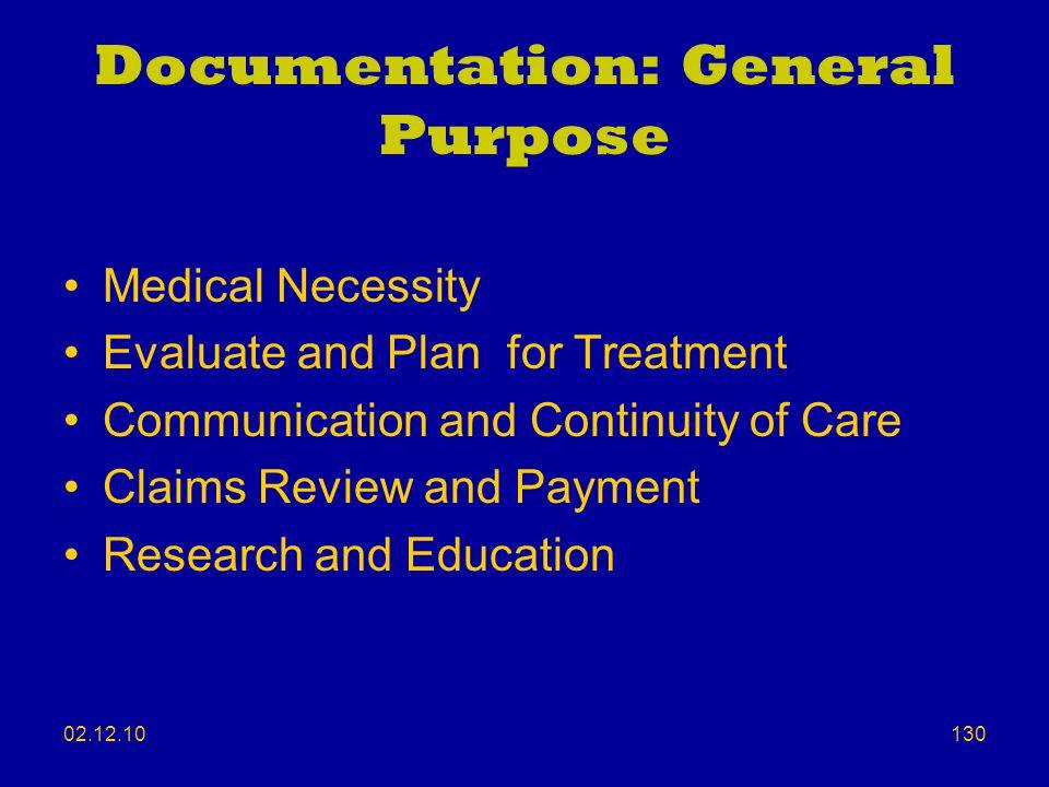 Documentation: General Purpose