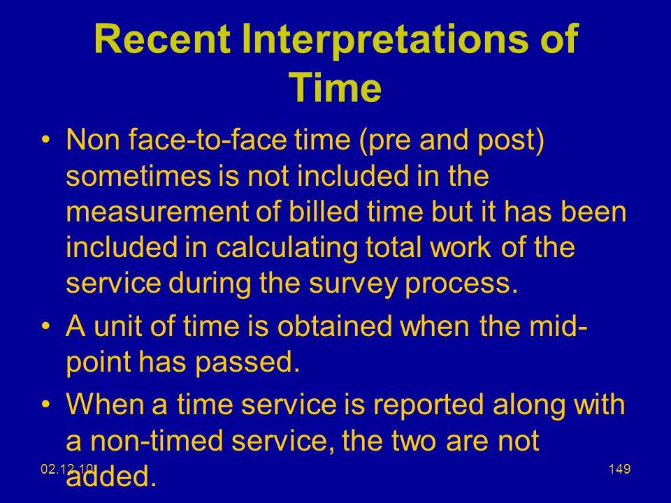 Recent Interpretations of Time