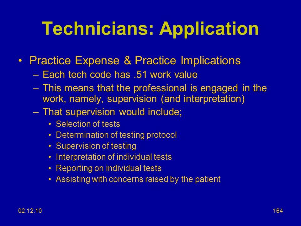 Technicians: Application