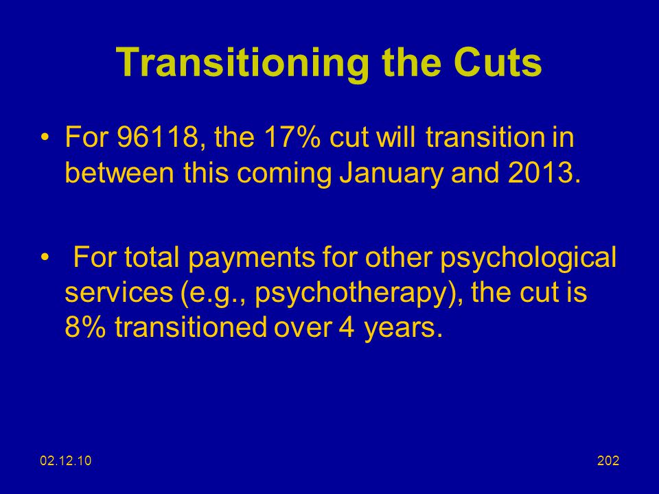 Transitioning the Cuts