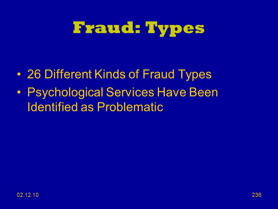 Fraud: Types 26 Different Kinds of Fraud Types