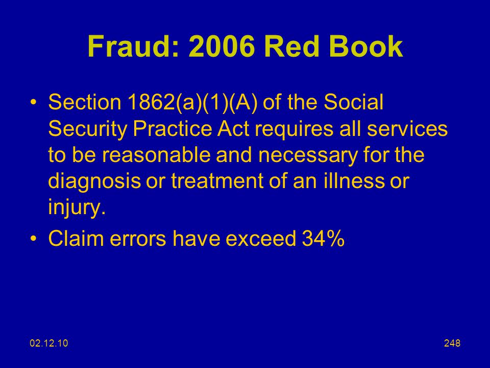 Fraud: 2006 Red Book