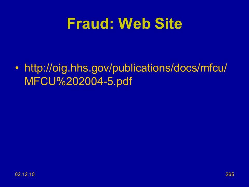 Fraud: Web Site http://oig.hhs.gov/publications/docs/mfcu/MFCU%202004-5.pdf 02.12.10 NCPA/DIPP 2006