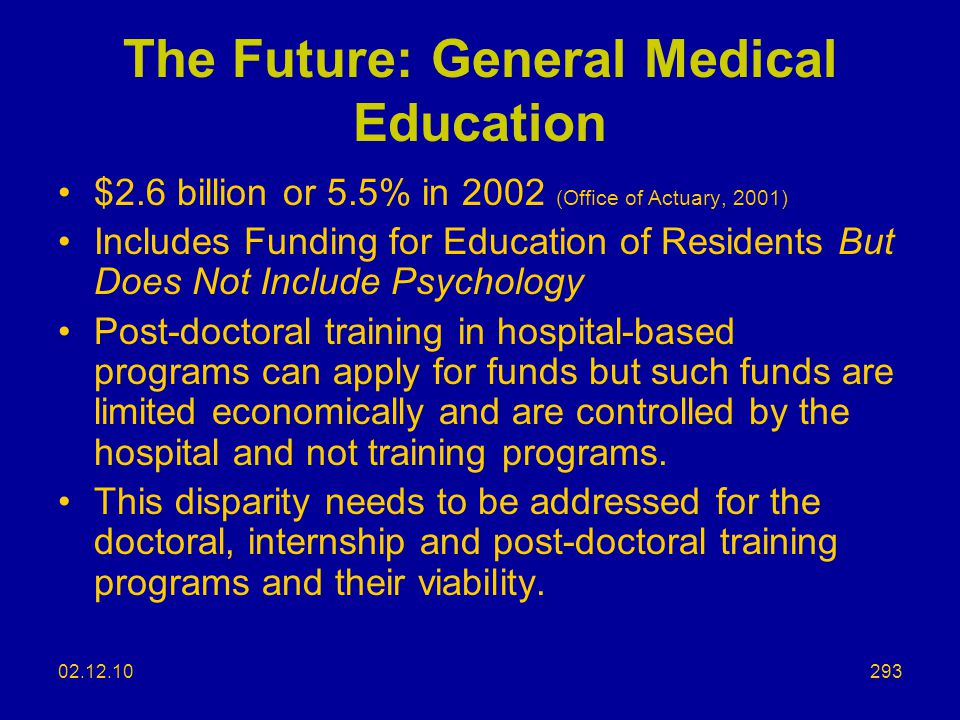 The Future: General Medical Education