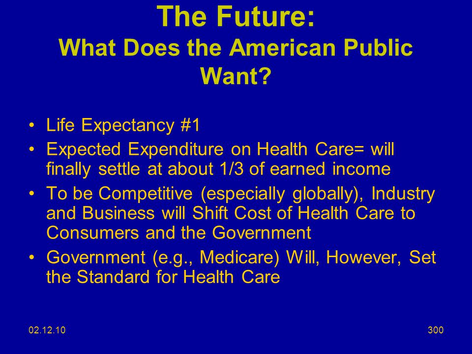 The Future: What Does the American Public Want