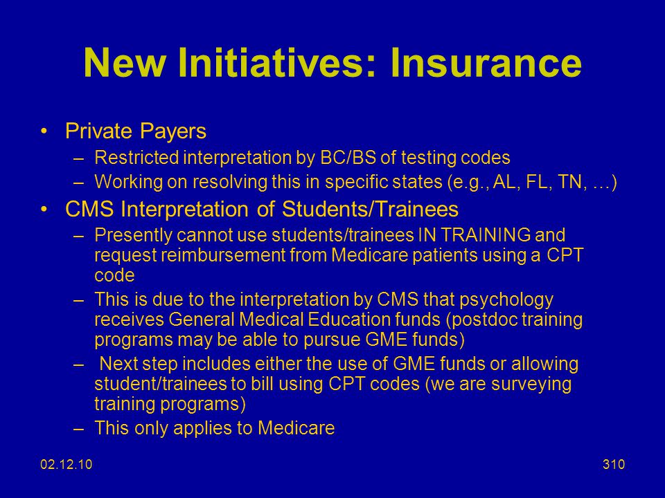 New Initiatives: Insurance