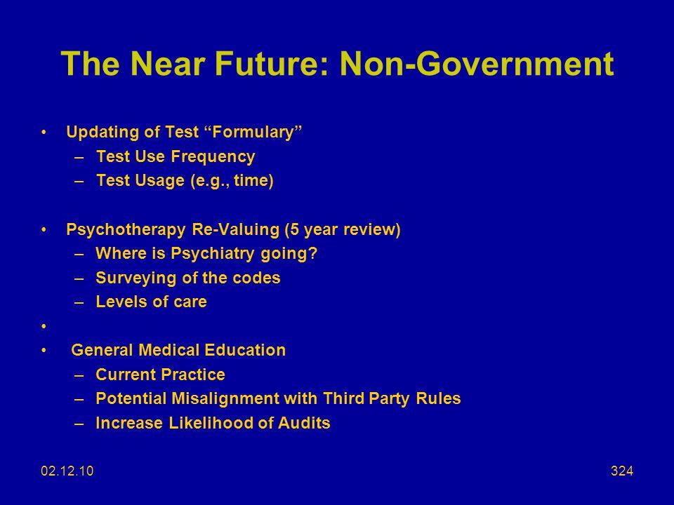 The Near Future: Non-Government