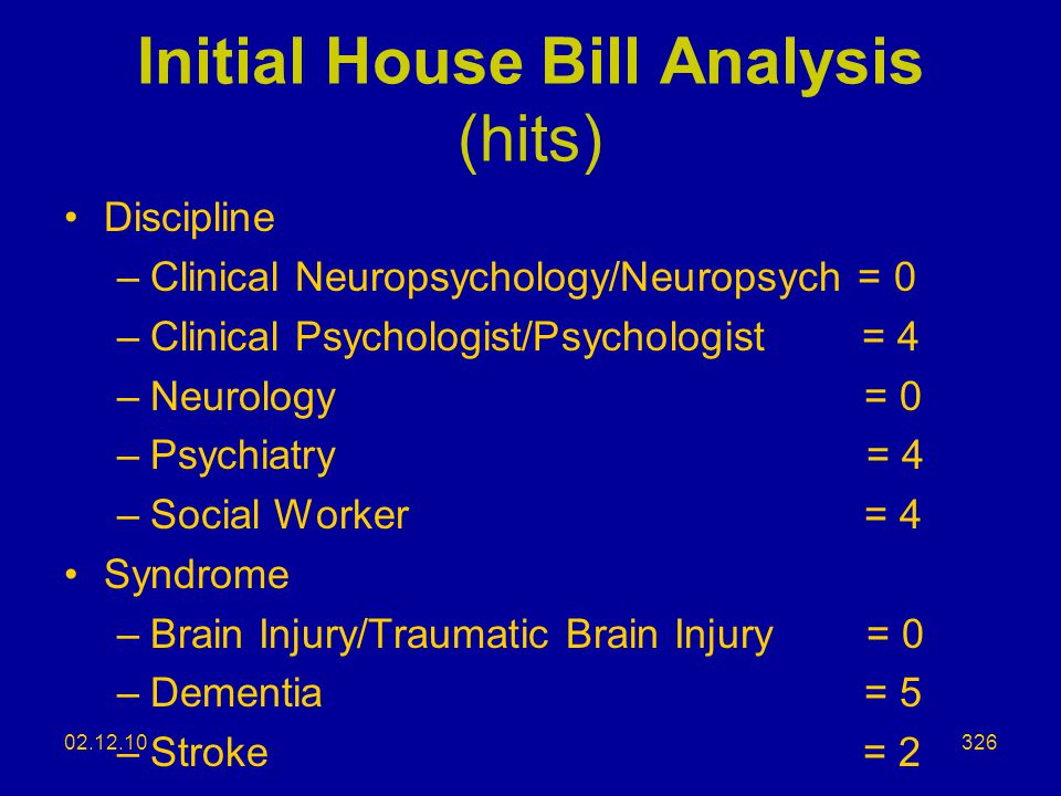 Initial House Bill Analysis (hits)
