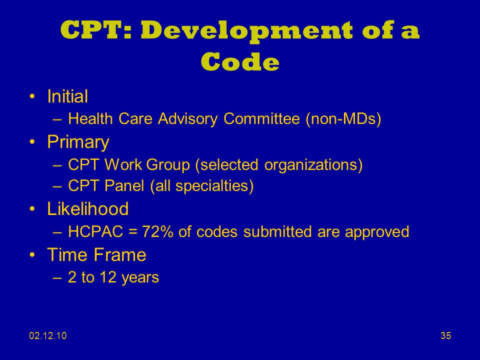 CPT: Development of a Code
