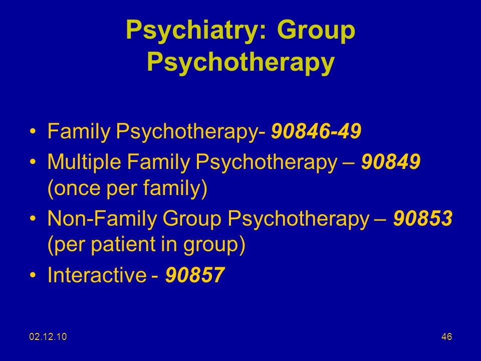 Psychiatry: Group Psychotherapy