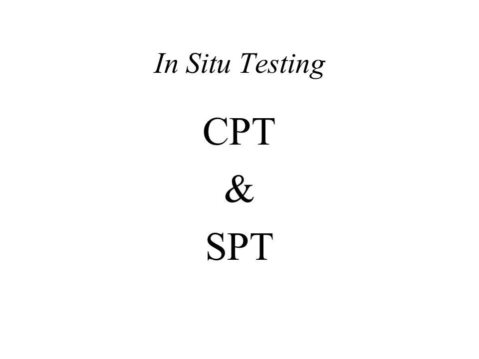 In Situ Testing CPT & SPT