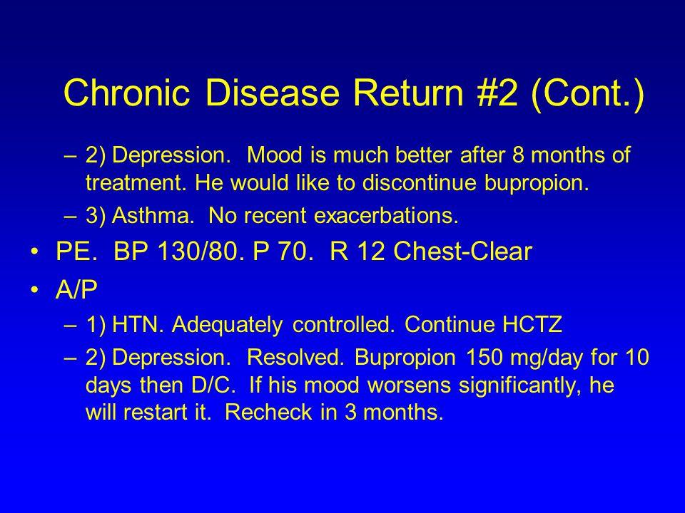 Chronic Disease Return #2 (Cont.)