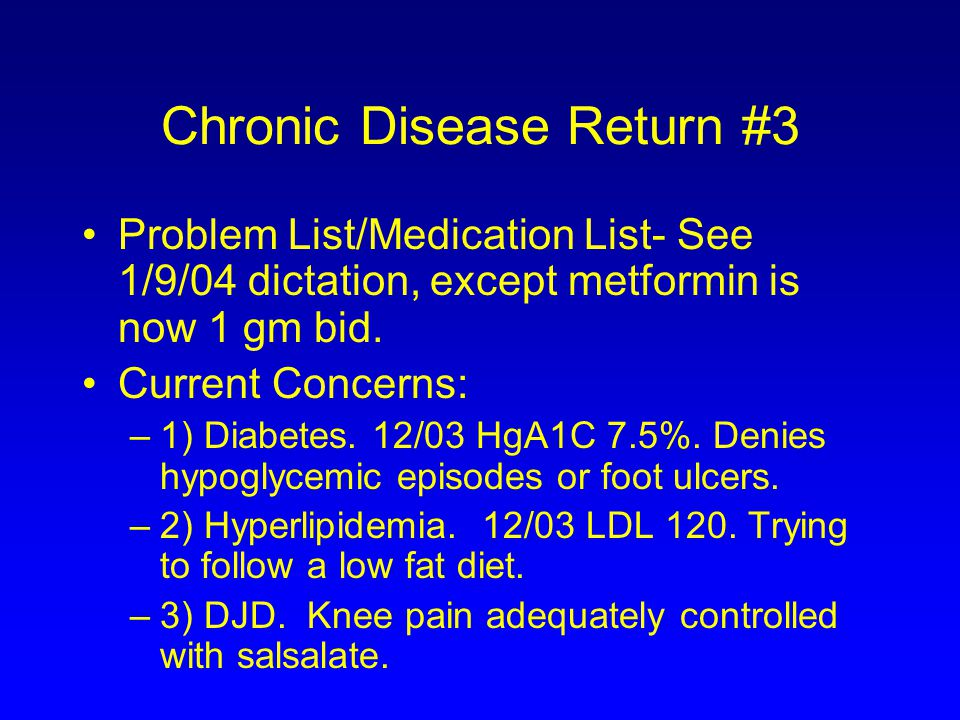 Chronic Disease Return #3