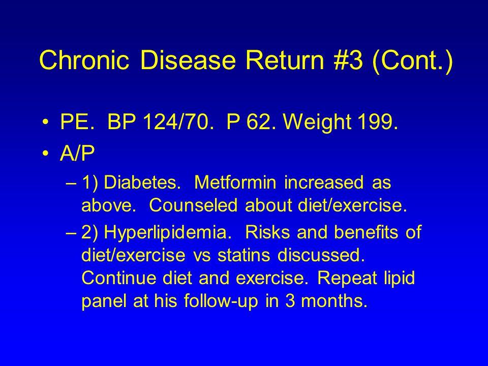 Chronic Disease Return #3 (Cont.)