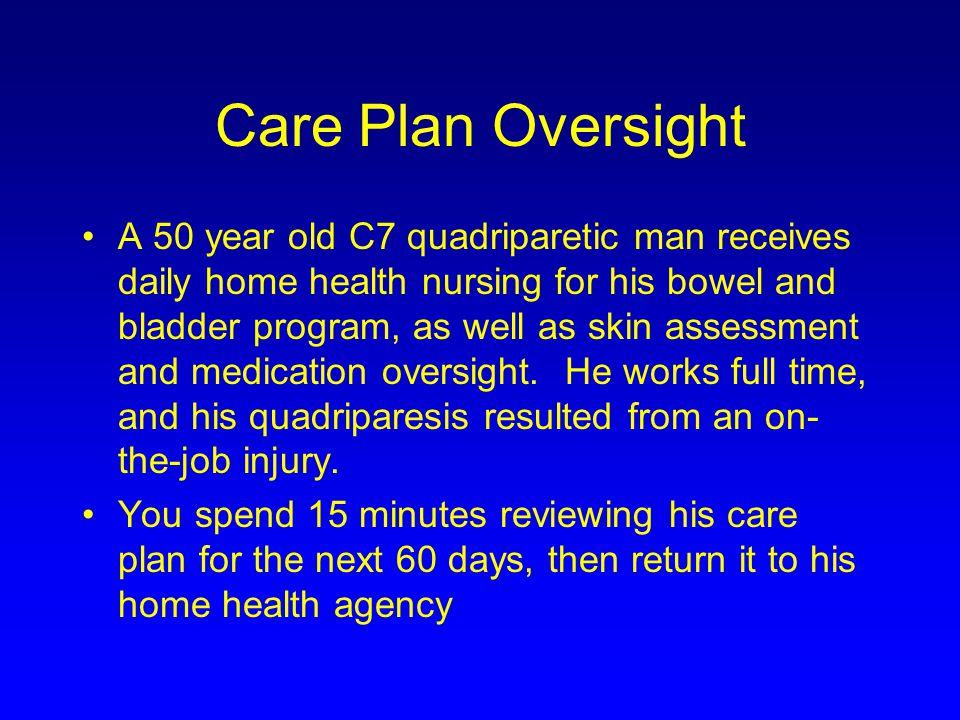 Care Plan Oversight