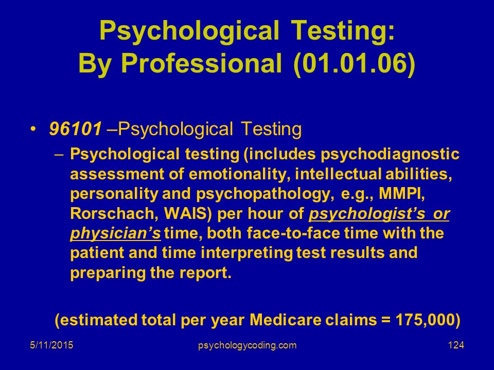 Psychological Testing: By Professional (01.01.06)