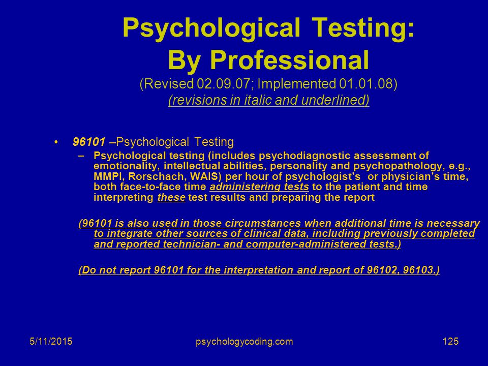 Psychological Testing: By Professional (Revised 02. 09