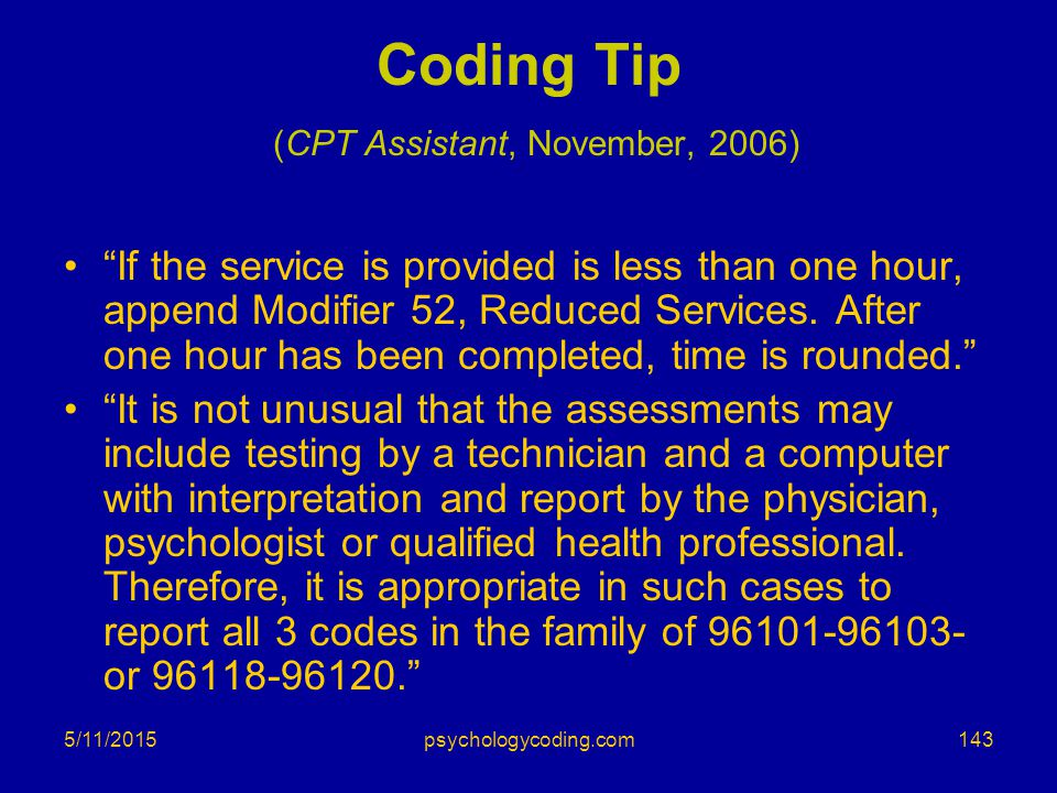 Coding Tip (CPT Assistant, November, 2006)