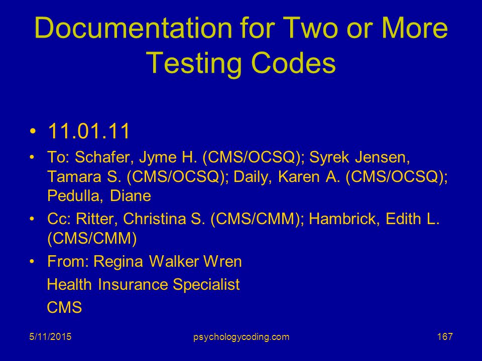 Documentation for Two or More Testing Codes