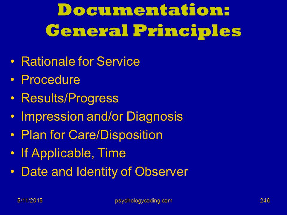 Documentation: General Principles