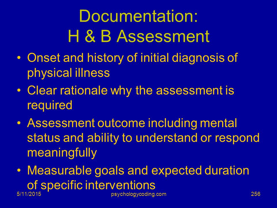 Documentation: H & B Assessment