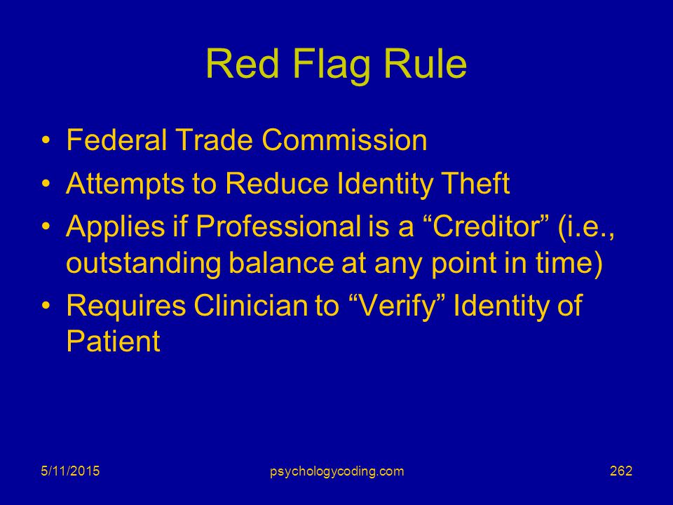 Red Flag Rule Federal Trade Commission