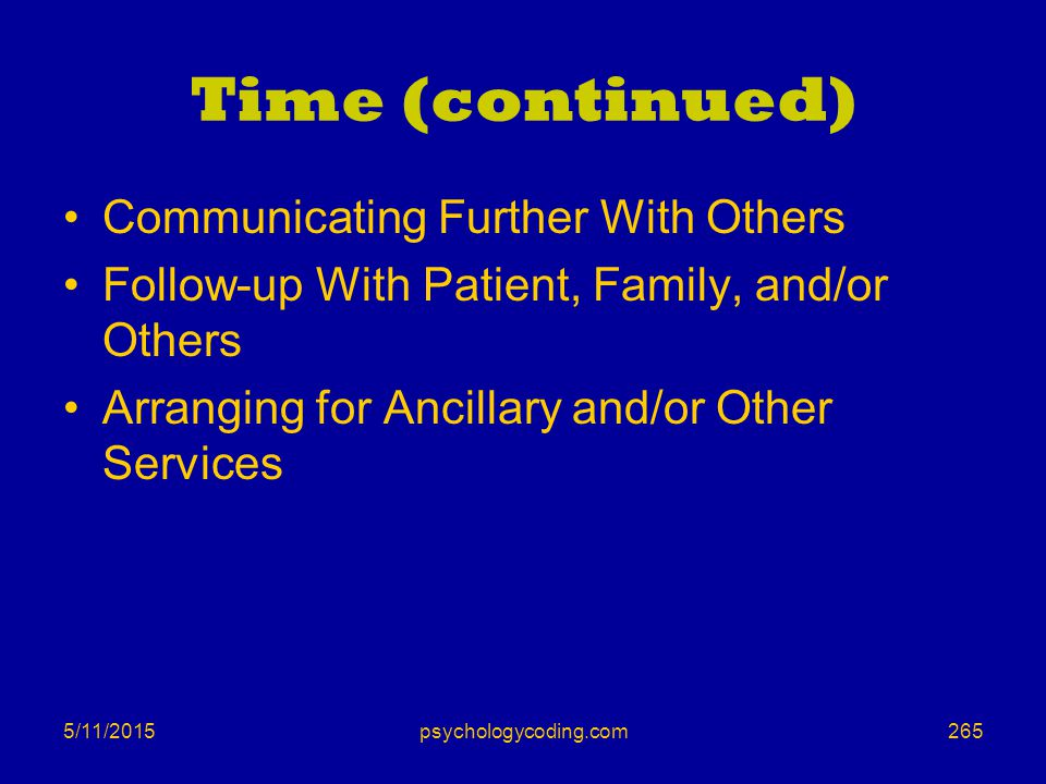 Time (continued) Communicating Further With Others