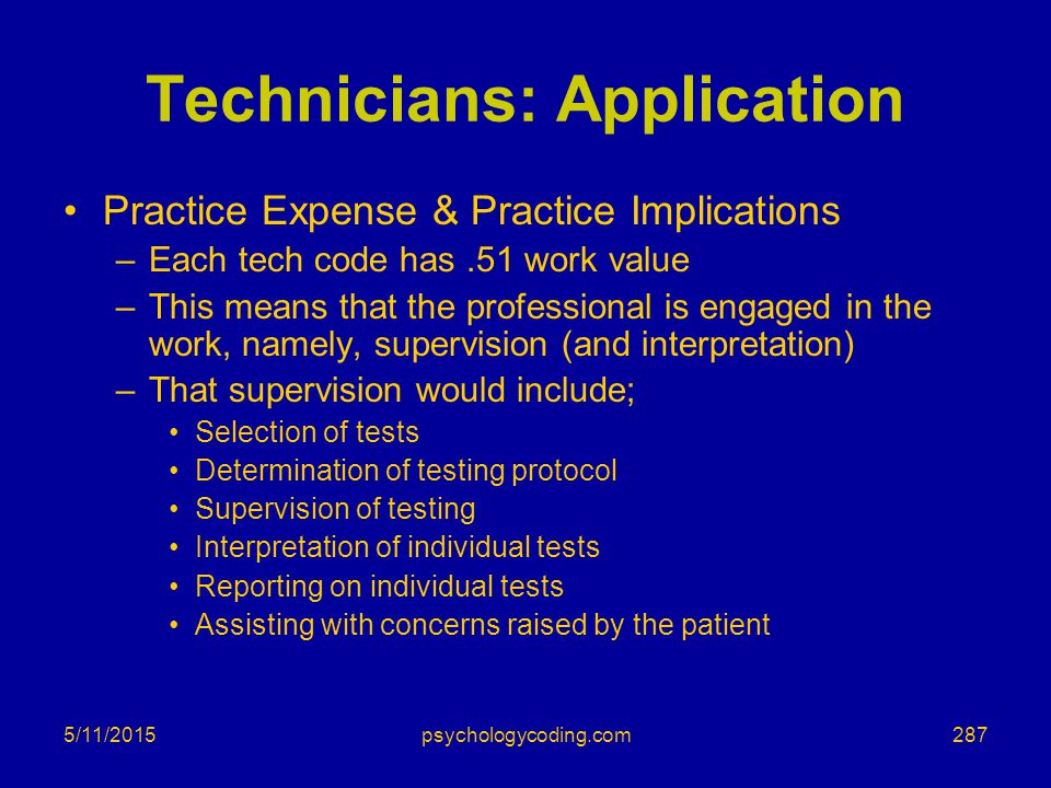 Technicians: Application