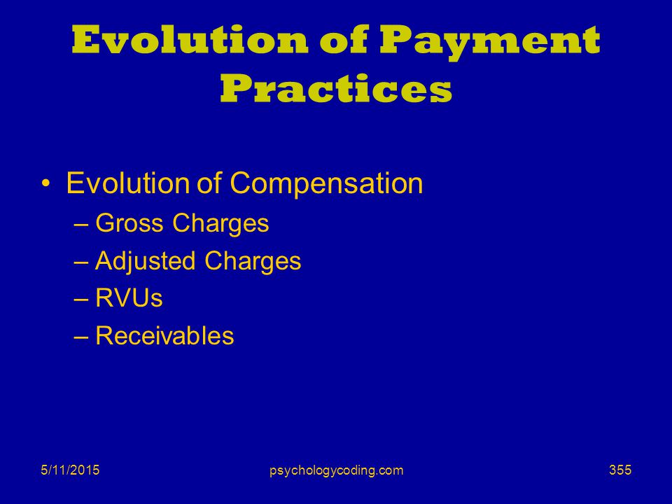 Evolution of Payment Practices
