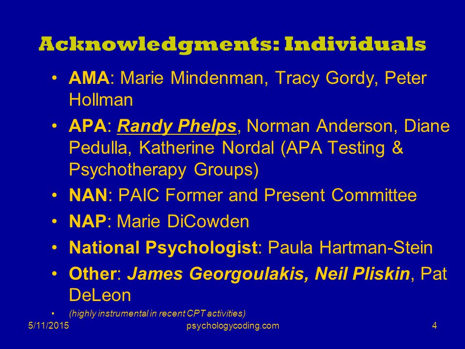 Acknowledgments: Individuals