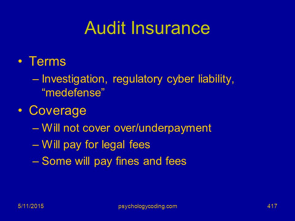 Audit Insurance Terms Coverage