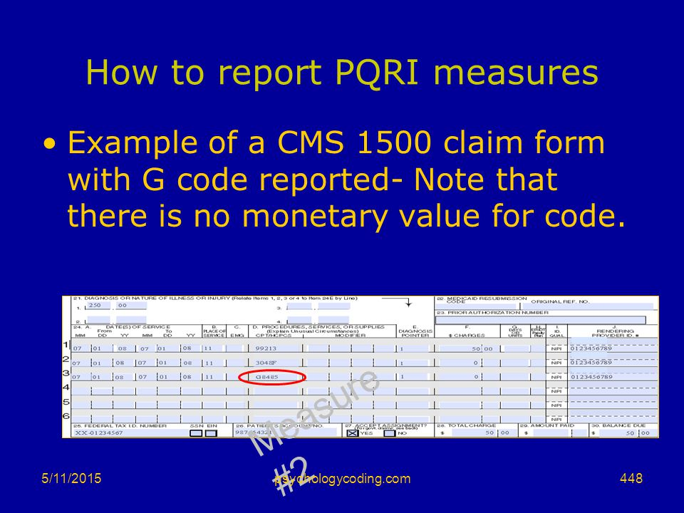 How to report PQRI measures