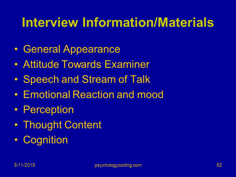 Interview Information/Materials
