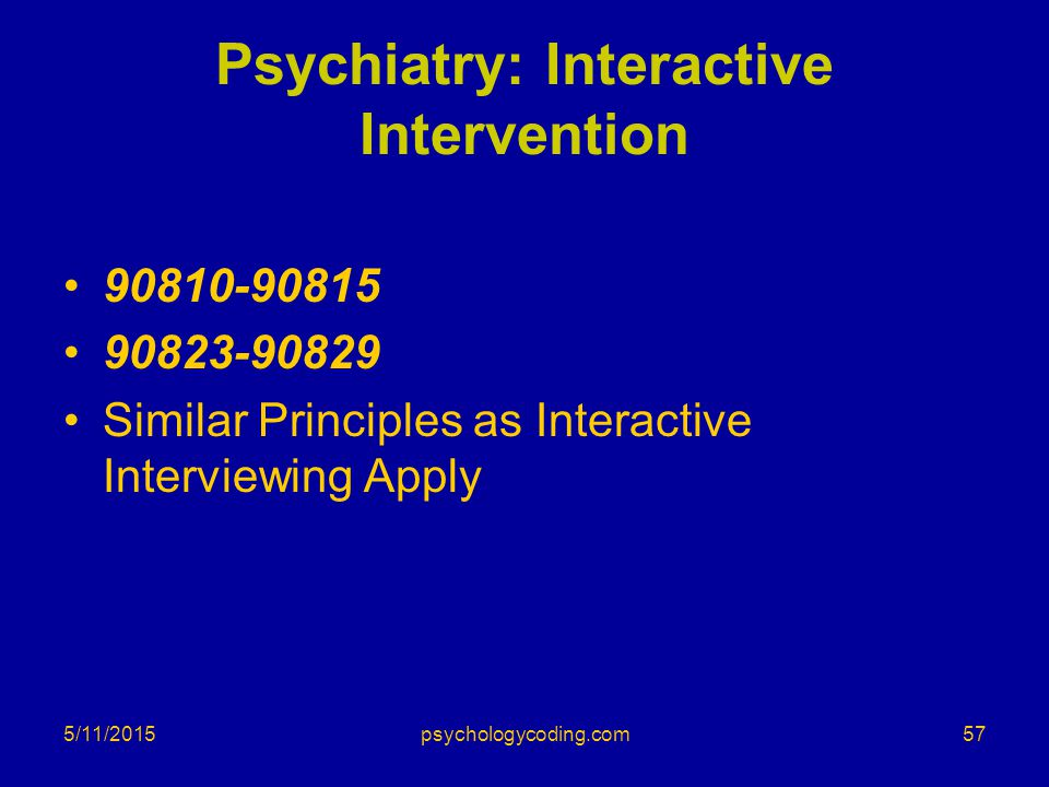 Psychiatry: Interactive Intervention