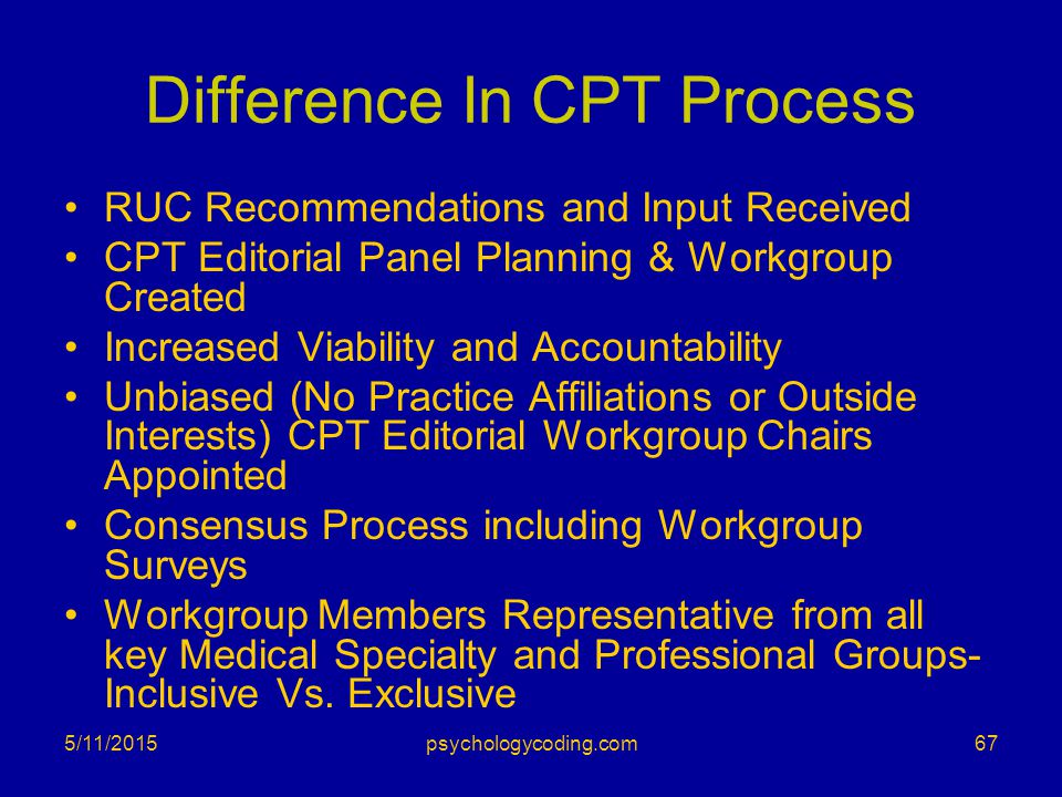 Difference In CPT Process