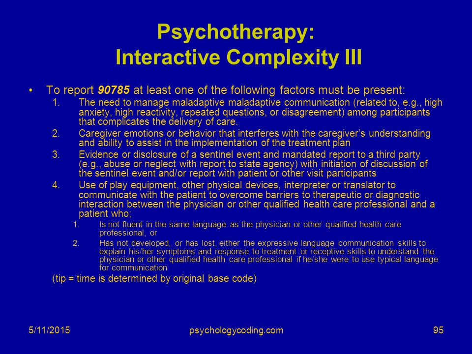 Psychotherapy: Interactive Complexity III