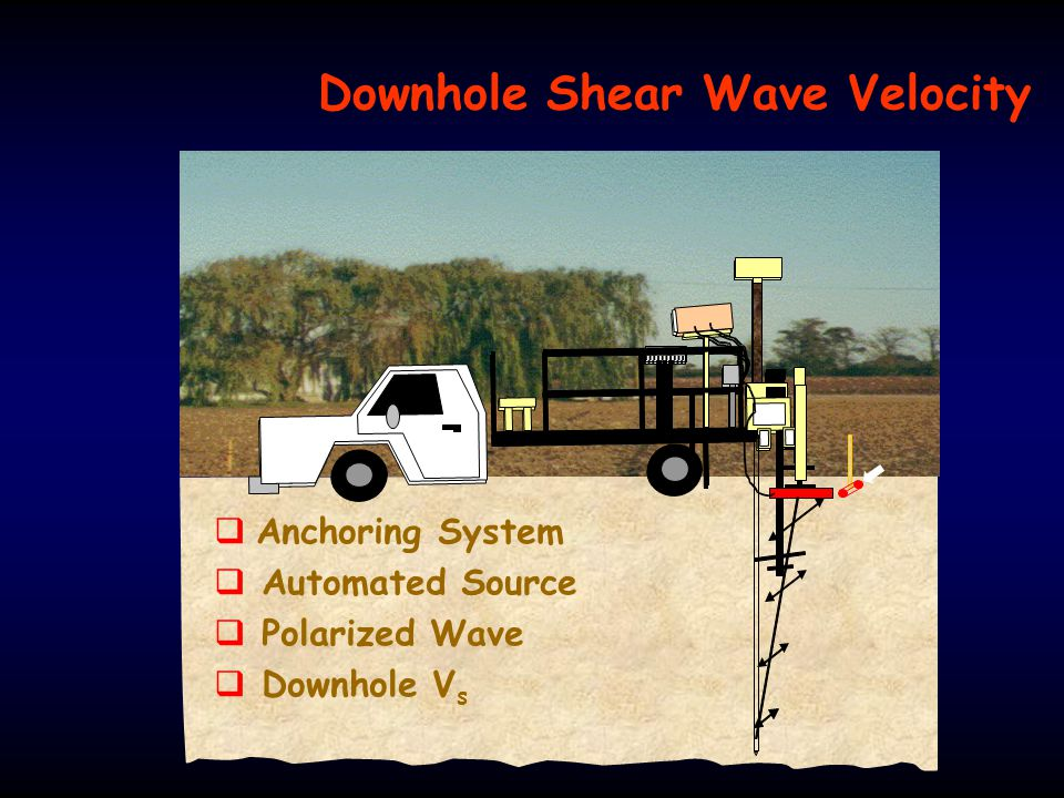 Downhole Shear Wave Velocity