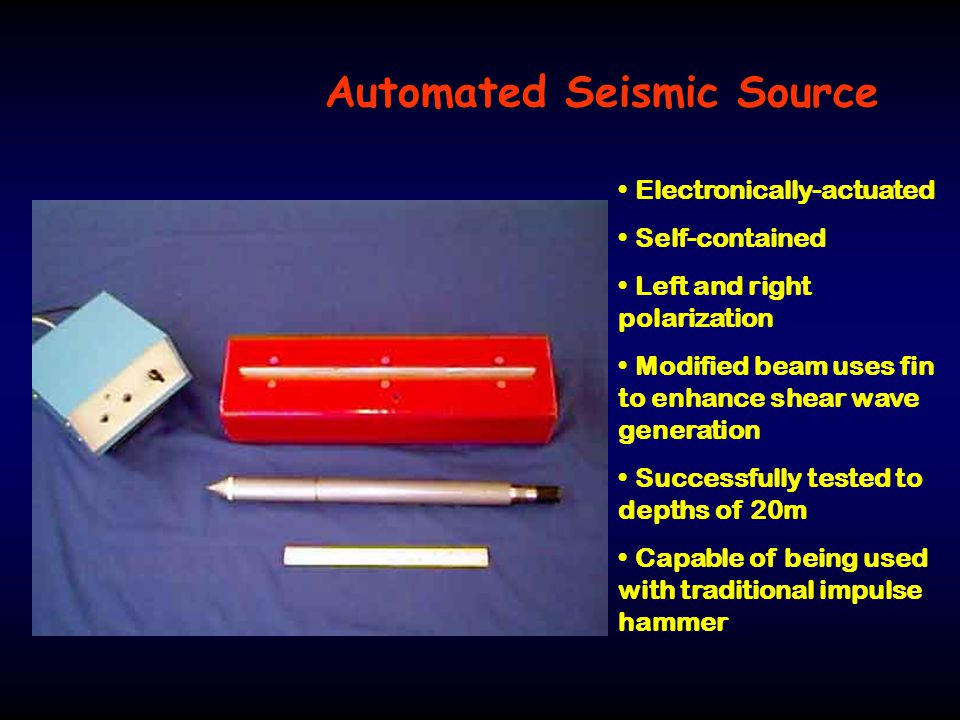 Automated Seismic Source