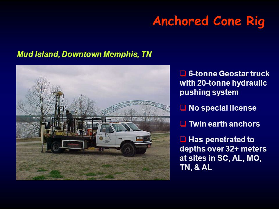 Anchored Cone Rig Mud Island, Downtown Memphis, TN