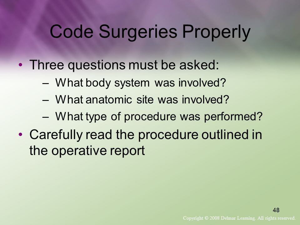 Code Surgeries Properly