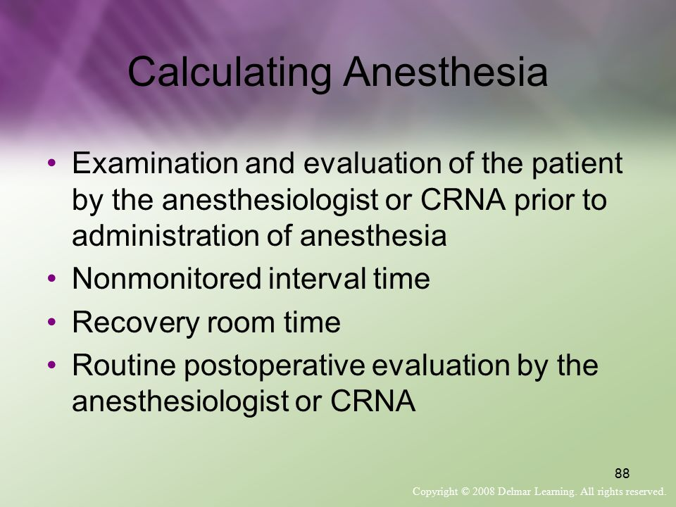 Calculating Anesthesia