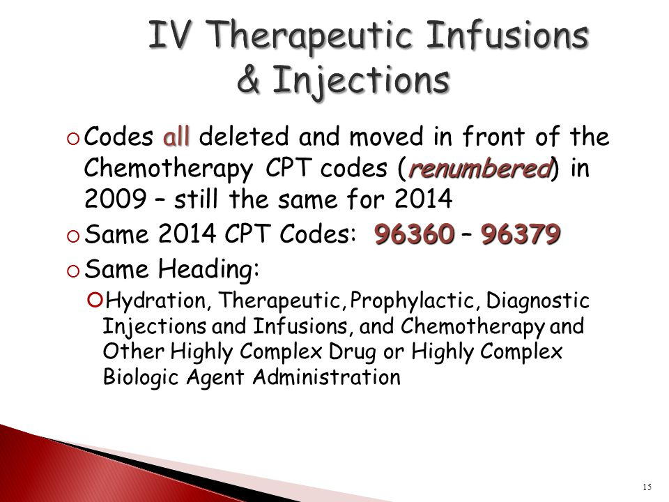 IV Therapeutic Infusions & Injections