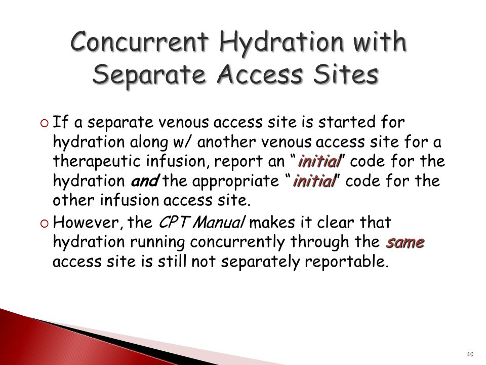 Concurrent Hydration with Separate Access Sites